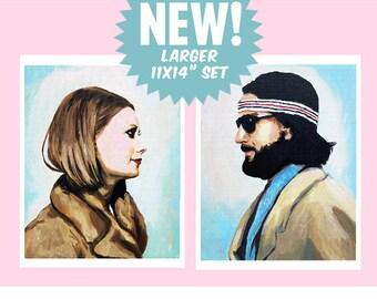 "Set of Large 11x14"" Margot and Richie Tenenbaum Prints"