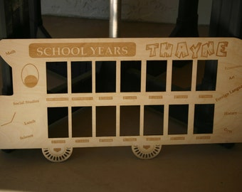 Personalized School Bus Photo Frame to include Pre-school