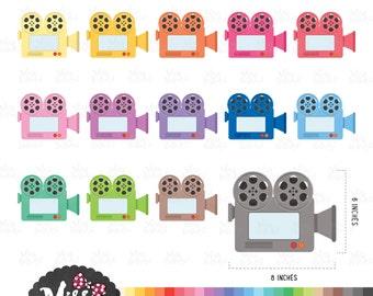 30 Colors Video Camera/ Recorder Clipart - Instant Download