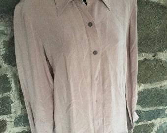 Thick Silk Vintage Shirt Size 8