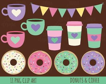 Donut Clipart Doughnut Clipart dessert Clipart Watercolor