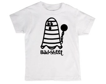 Bad sheet halloween shirt, for toddler girl, for trick or treat, for first halloween, birthday gift, for english teacher, for nerd, for dad
