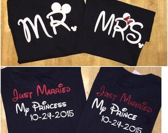 Disney Couple Shirt, Disney Couple Shirts, Disney Honeymoon shirt, Disney Honeymoon Shirts, Disney Wedding Shirt, Disney Wedding Shirts