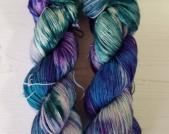 Ephimi 4ply hand dyed sock yarn.