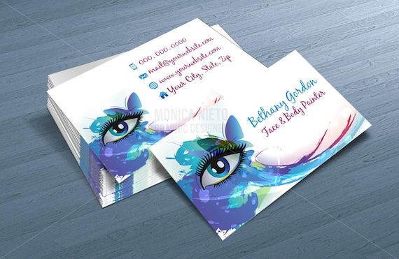 Custom printable face painter business card template makeup custom printable face painter business card template makeup artist business cards cheaphphosting Images