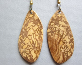 Sweet Gum, Exotic Wood Earrings by ExoticWoodJewelryAnd Ecofriendly repurposed hypo allergenic