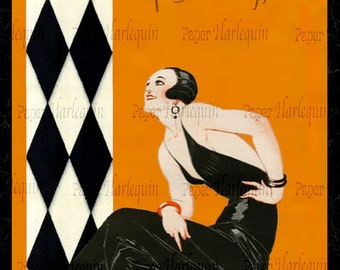 Gatsby Art Deco Vibrant Jazz Age Room Decor Digital Poster