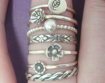 Sterling Silver Stacking Ring -  Create Your Own Stack