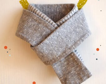 Mixed kids jersey scarf, gray