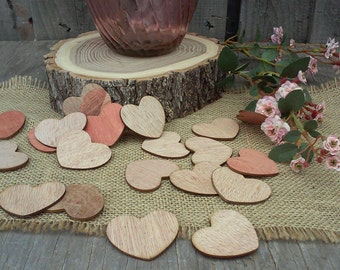 "Adorable Wood Hearts ~ 2"" ~ Cute Little Wooden Hearts! Valentine's Day Decor, DIY Valentines ~ Place Cards"