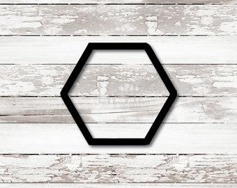 Hexagon Cookie Cutter. Honey comb.