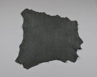 Gray velvet lamb leather skin