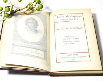 Antique Book Little Masterpieces William Makepeace Thackeray 1903