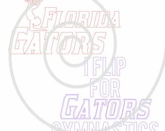 Florida Gator Gymnastics #1 - Silhouette Cut File
