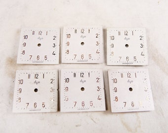 Old Watch Faces - set of 6 - c145