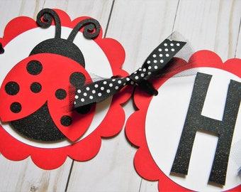 Ladybug Birthday Banner, Ladybug Party Banner, Ladybug Banner, Ladybug Party Decorations, Ladybug Garland, Ladybug Party Supplies