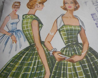 Vintage 1950's McCall's 4428 Dress Sewing Patterns Size 12 Bust 32 or Size 14 Bust 34