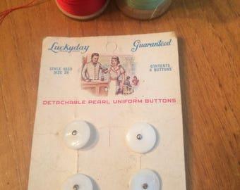 Vintage Pearl Uniform Buttons