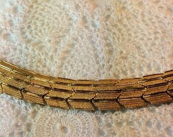 Pretty Gold Chevron Bracelet