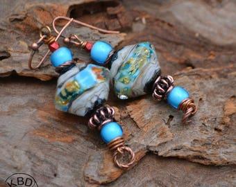 Vortex Lampwork Earrings