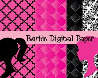 Barbie Digital Paper Download