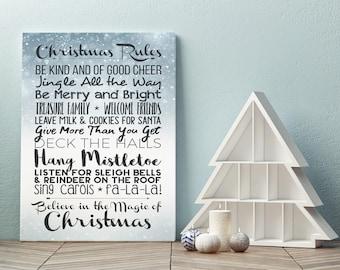 Christmas Rules - Canvas Wrap