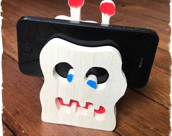 support téléphone monstre