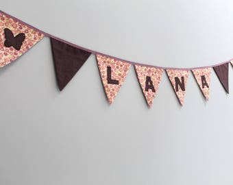 customizable 8 flags Garland with 6 letters or patterns