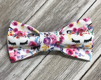 Bow Tie or Flower Collar Attachment & Accessory for Dogs and Cats /UNICORNS and FLOWERS