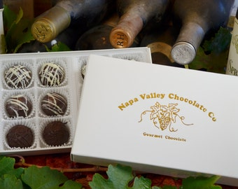 Chocolate Wine Truffles, Assorted Truffles, Wine Truffles, Dark Chocolate, Truffles, Wine Chocolate, Chocolate Wine, Gifts for Her