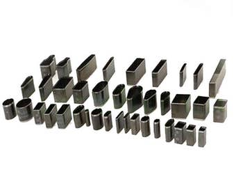 39 piece jewelry cutter set, perfect for polymer clay earrings, pendants, bracelets and other crafts.