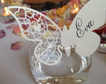 Paperart Template - Personalized Butterfly Place Card for Engagements, Weddings, Anniversaries and other Celebratory Events