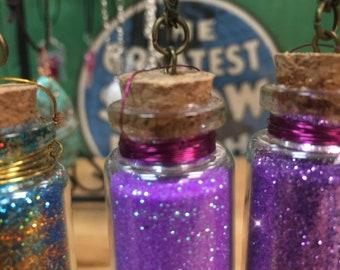 Light purple pixie dust bottle necklace