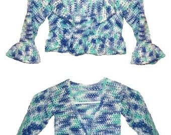 Crochet Pattern for Girls Tie and Collar Shrug pdf