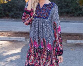 Zadero - Tunic dress, boho dress, womens dress, bohemian dress, tunic, loose tunic, boho tunic dress, dresses