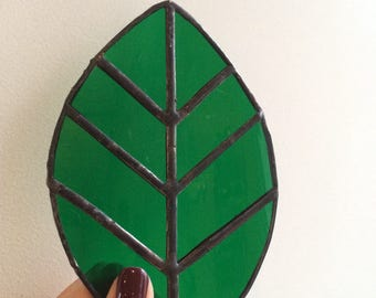 Stained glass leaf