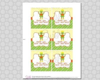 INSTANT DOWNLOAD - Robot Favor Tags - Gift Tags - NONPERSONALIZED