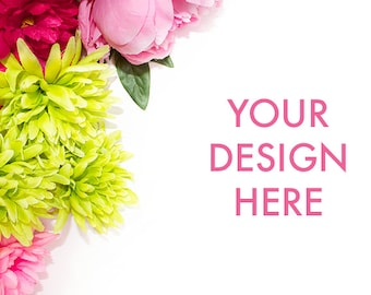 Flower Stock Photo / Flower / Lime / Pink / Styled Stock Photography / Scene / Product Mockup / Photography Background / Floral