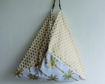 bento bag, shopper tote, summer tote bag, skulls, palm trees fabric bag, beach bag, market eco friendly bag, gift idea , most popular item