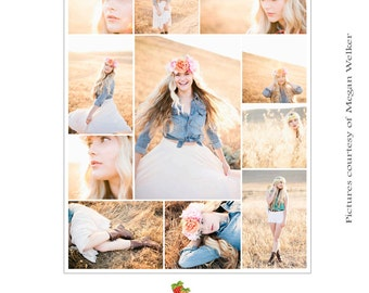 INSTANT DOWNLOAD Collage & Blog Board, Storyboard Photoshop templates - BL069