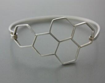 Hexagonal Bee Bangle