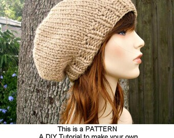 Instant Download Knitting Pattern - Knit Beret Pattern - Knit Hat Pattern Champlain Beret - Womens Beret Pattern - Womens Accessories