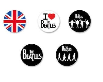 Lot Pins Ø25mm - o38mm Pinback Button Badge / Magnet o38mm The Beatles