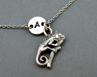 Chameleon charm bracelet, antique silver, initial bracelet, friendship, mothers, adjustable, monogram