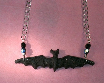 flying bat chain necklace