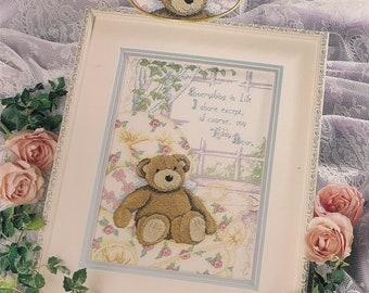 Cross Stitch Patterns Leaflet,Share My Bear,Teddy Bear Cross Stitch Patterns,Vintage Cross Stitch, Baby Cross Stitch Patterns,