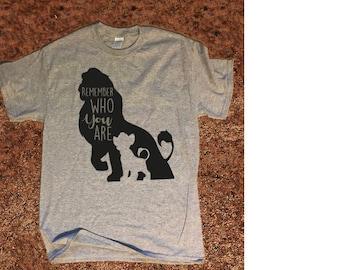 Disney Lion King shirt T-Shirt Mufasa and Simba