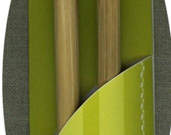 Pair needles knitting bamboo Number7