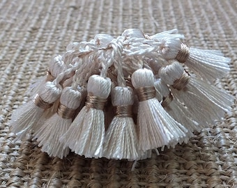 Cream viscose tassels