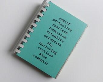 CANCER zodiac traits - comb-bound notebook